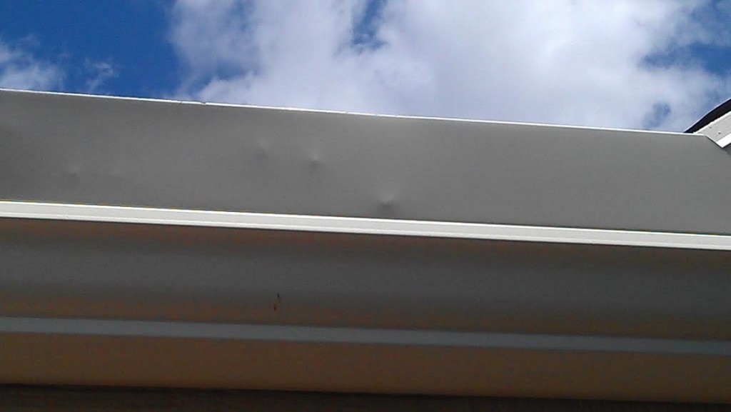 hail damage gutters