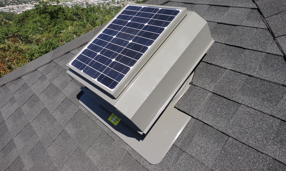 solar powered attic fan ventilation
